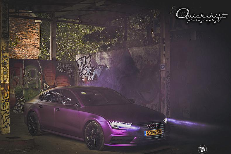 Audi A7 WMR purple grape, Carwrapping door Wrapmyride.nu Foto-nr:13641, ©2021