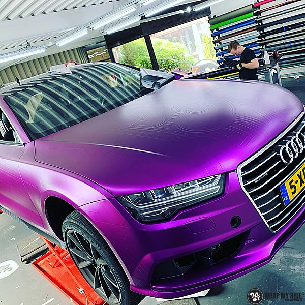 Audi A7 WMR purple grape, Carwrapping door Wrapmyride.nu Foto-nr:13679, ©2021