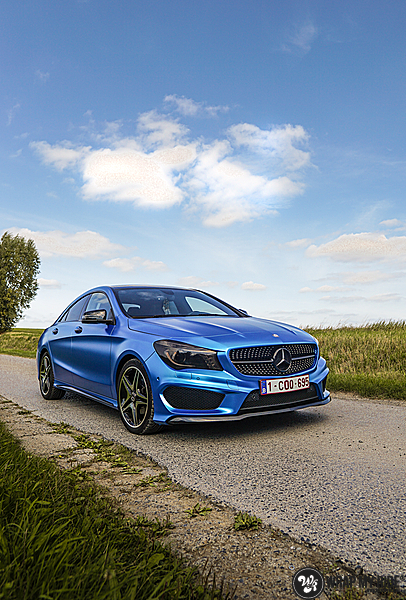 Mercedes CLA Matte Bleu Chrome, Carwrapping door Wrapmyride.nu Foto-nr:13748, ©2021