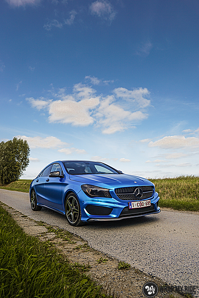 Mercedes CLA Matte Bleu Chrome, Carwrapping door Wrapmyride.nu Foto-nr:13749, ©2021