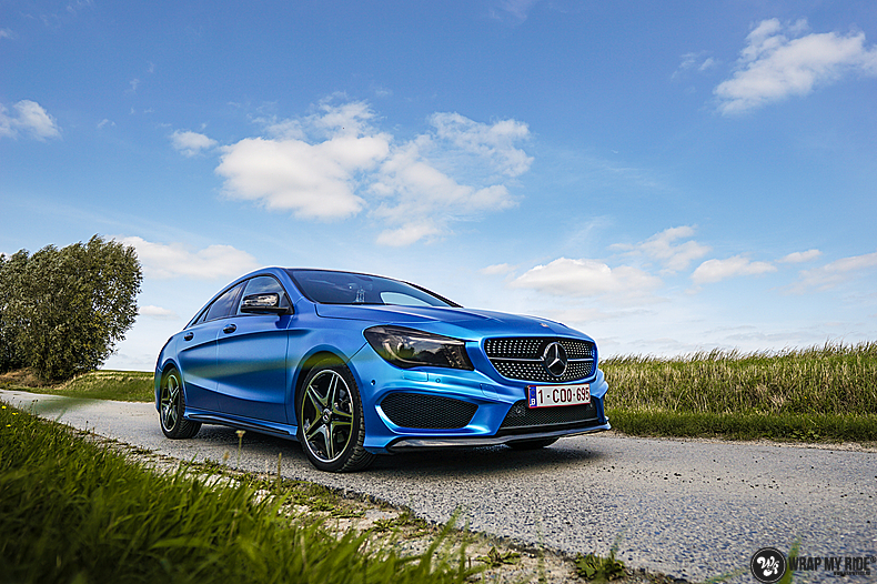 Mercedes CLA Matte Bleu Chrome, Carwrapping door Wrapmyride.nu Foto-nr:13751, ©2021