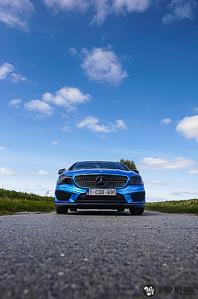 Mercedes CLA Matte Bleu Chrome, Carwrapping door Wrapmyride.nu Foto-nr:13753, ©2021