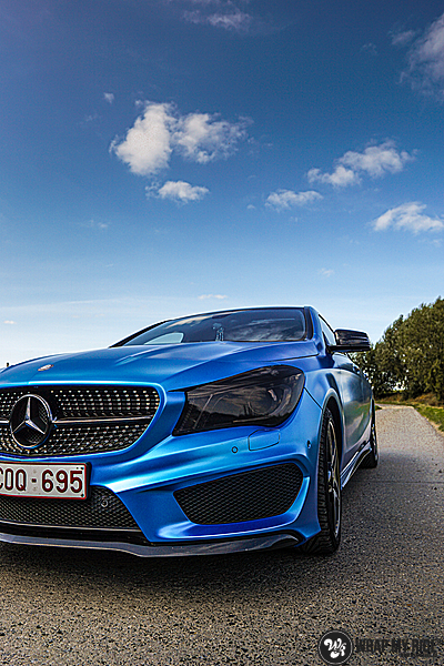 Mercedes CLA Matte Bleu Chrome, Carwrapping door Wrapmyride.nu Foto-nr:13754, ©2021