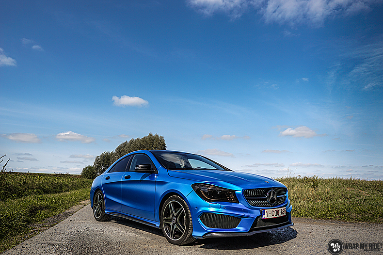 Mercedes CLA Matte Bleu Chrome, Carwrapping door Wrapmyride.nu Foto-nr:13761, ©2021