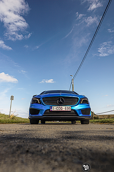 Mercedes CLA Matte Bleu Chrome, Carwrapping door Wrapmyride.nu Foto-nr:13762, ©2021