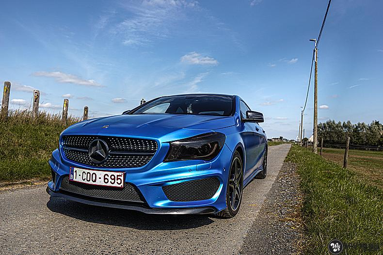 Mercedes CLA Matte Bleu Chrome, Carwrapping door Wrapmyride.nu Foto-nr:13765, ©2021