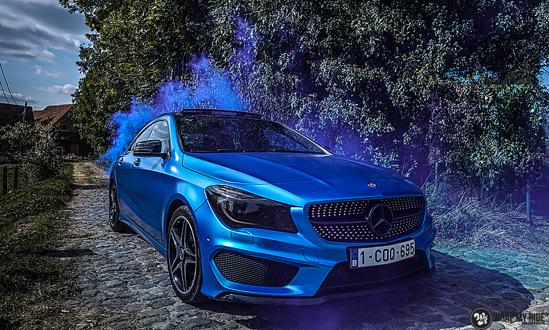 Mercedes CLA Matte Bleu Chrome, Carwrapping door Wrapmyride.nu Foto-nr:13772, ©2021