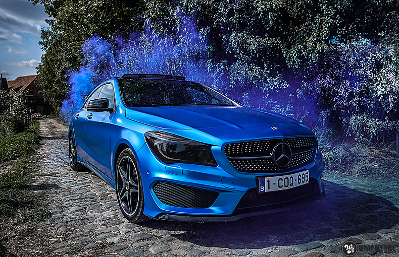 Mercedes CLA Matte Bleu Chrome, Carwrapping door Wrapmyride.nu Foto-nr:13773, ©2021
