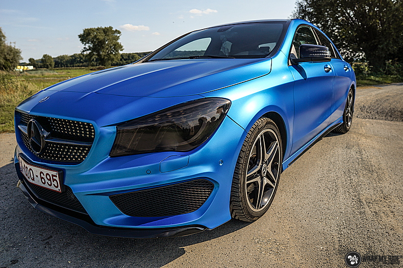 Mercedes CLA Matte Bleu Chrome, Carwrapping door Wrapmyride.nu Foto-nr:13787, ©2021