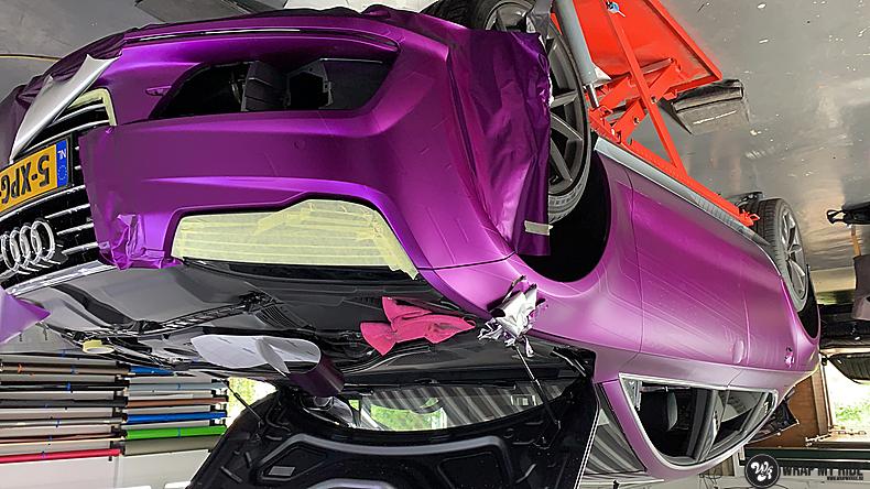 Audi A7 WMR purple grape, Carwrapping door Wrapmyride.nu Foto-nr:13688, ©2021