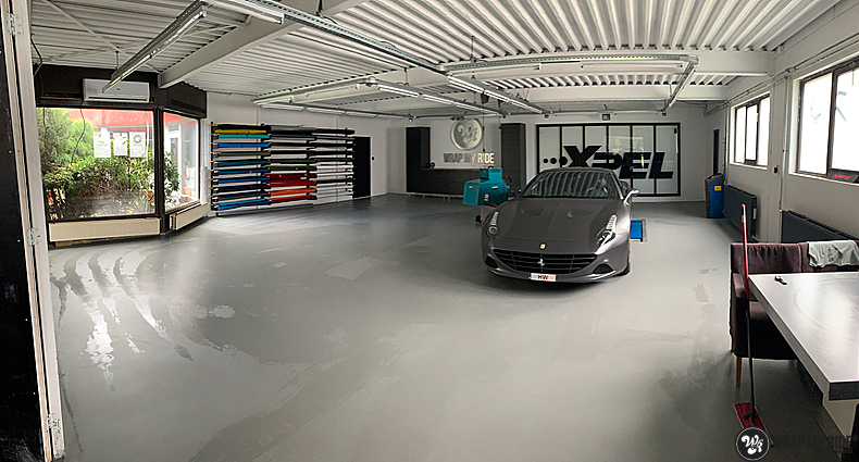 Ferrari California satin dark grey, Carwrapping door Wrapmyride.nu Foto-nr:13860, ©2021