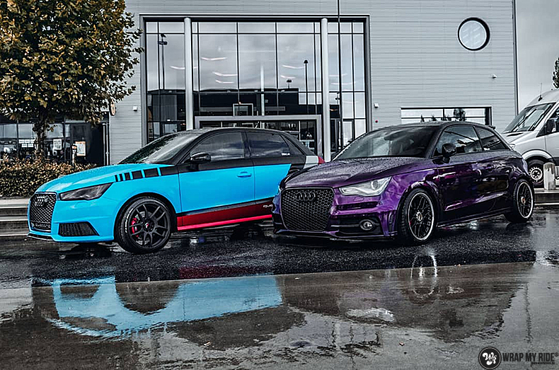 Audi A1 inozotec midnight purple, Carwrapping door Wrapmyride.nu Foto-nr:13743, ©2021