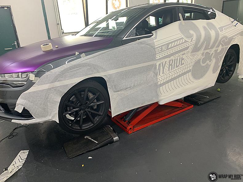 Audi A7 WMR purple grape, Carwrapping door Wrapmyride.nu Foto-nr:13692, ©2021