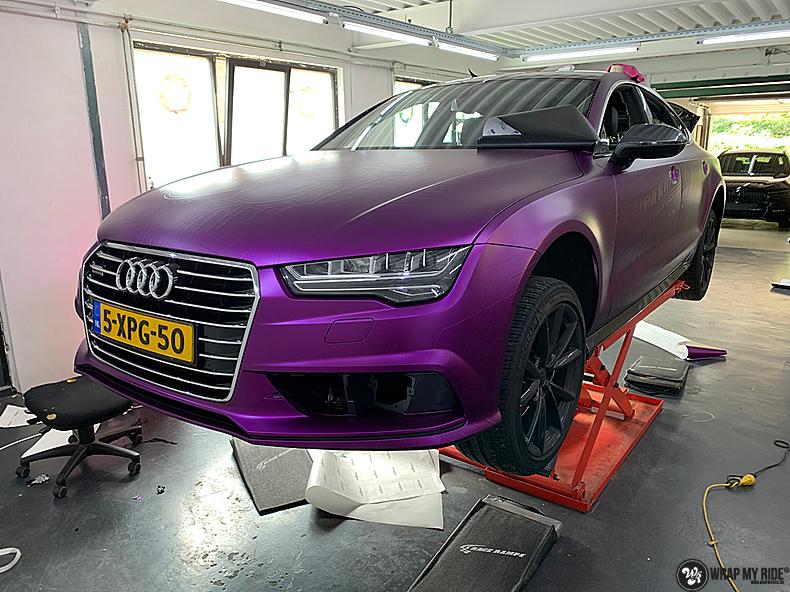 Audi A7 WMR purple grape, Carwrapping door Wrapmyride.nu Foto-nr:13687, ©2021