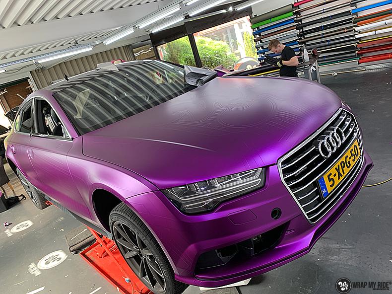Audi A7 WMR purple grape, Carwrapping door Wrapmyride.nu Foto-nr:13686, ©2021