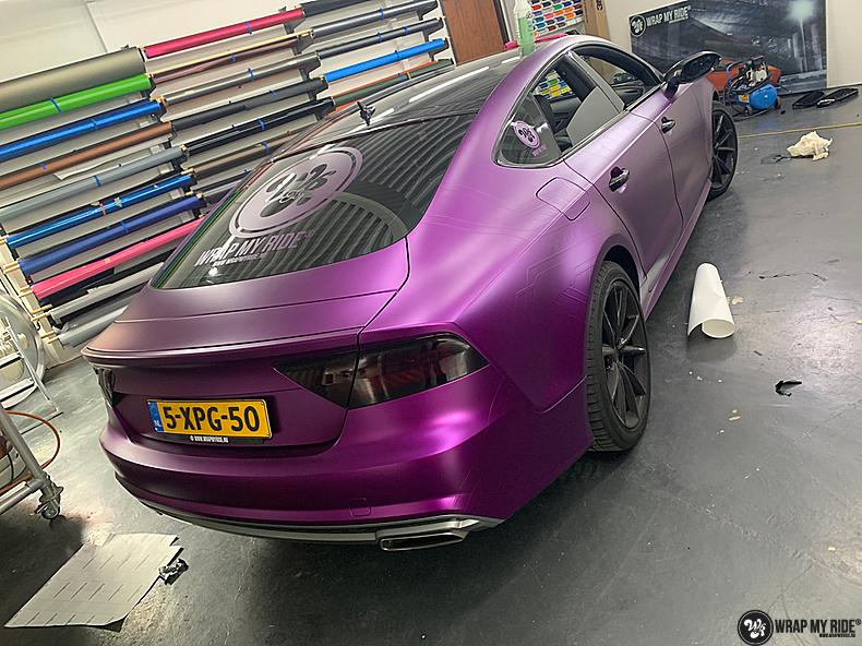 Audi A7 WMR purple grape, Carwrapping door Wrapmyride.nu Foto-nr:13681, ©2021
