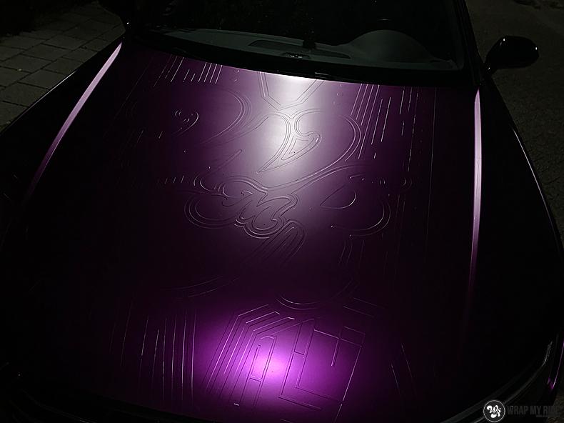 Audi A7 WMR purple grape, Carwrapping door Wrapmyride.nu Foto-nr:13672, ©2021