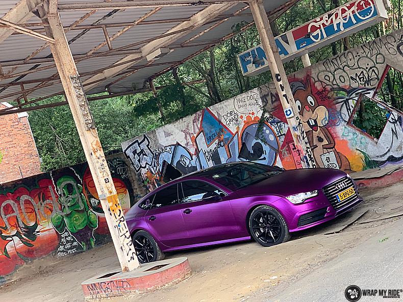 Audi A7 WMR purple grape, Carwrapping door Wrapmyride.nu Foto-nr:13667, ©2021
