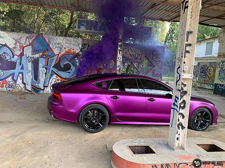 Audi A7 WMR purple grape, Carwrapping door Wrapmyride.nu Foto-nr:13665, ©2021