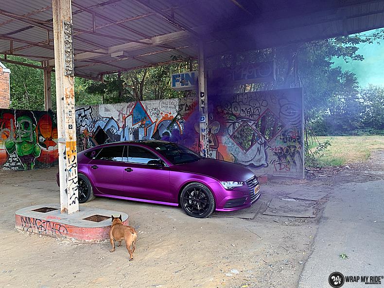 Audi A7 WMR purple grape, Carwrapping door Wrapmyride.nu Foto-nr:13664, ©2021