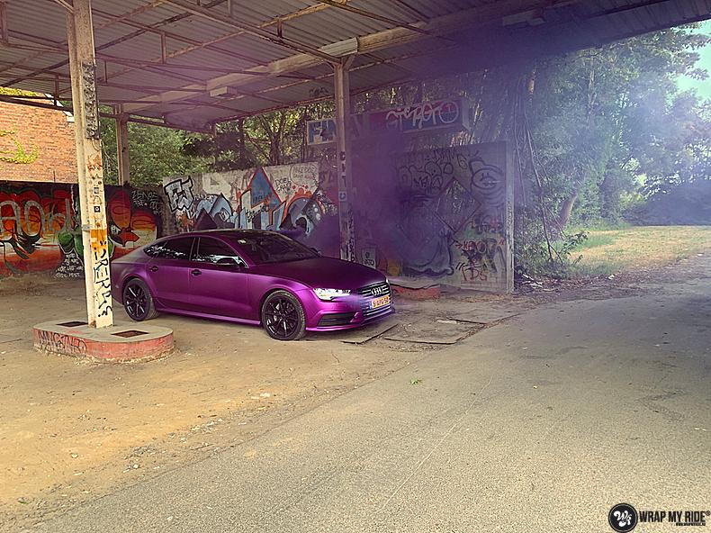 Audi A7 WMR purple grape, Carwrapping door Wrapmyride.nu Foto-nr:13663, ©2021