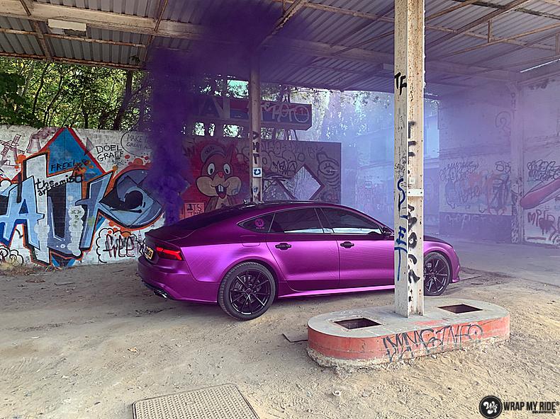 Audi A7 WMR purple grape, Carwrapping door Wrapmyride.nu Foto-nr:13661, ©2021