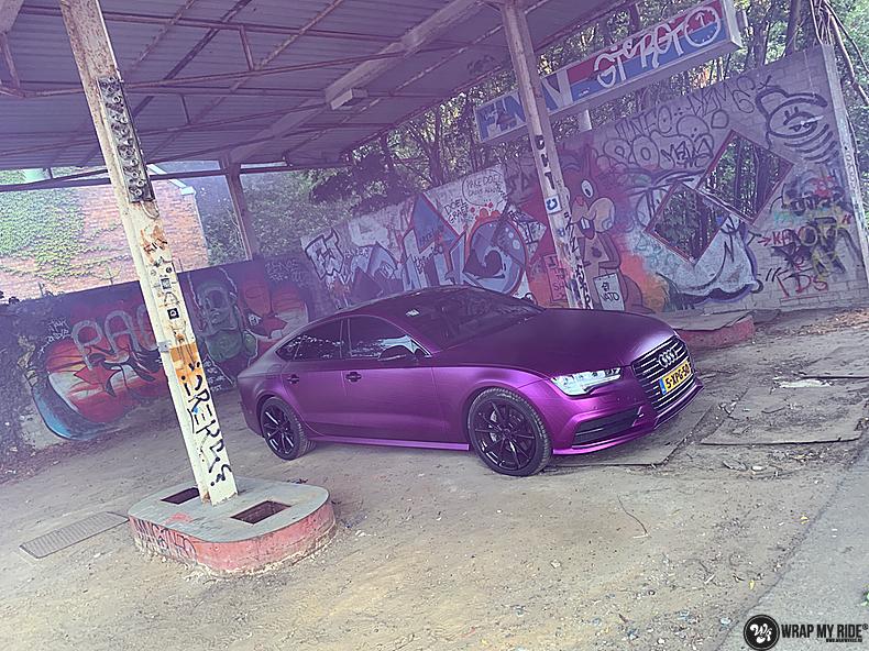 Audi A7 WMR purple grape, Carwrapping door Wrapmyride.nu Foto-nr:13660, ©2021