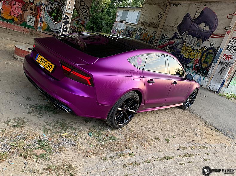 Audi A7 WMR purple grape, Carwrapping door Wrapmyride.nu Foto-nr:13659, ©2021