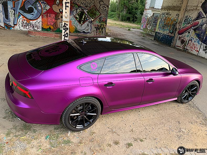Audi A7 WMR purple grape, Carwrapping door Wrapmyride.nu Foto-nr:13658, ©2021