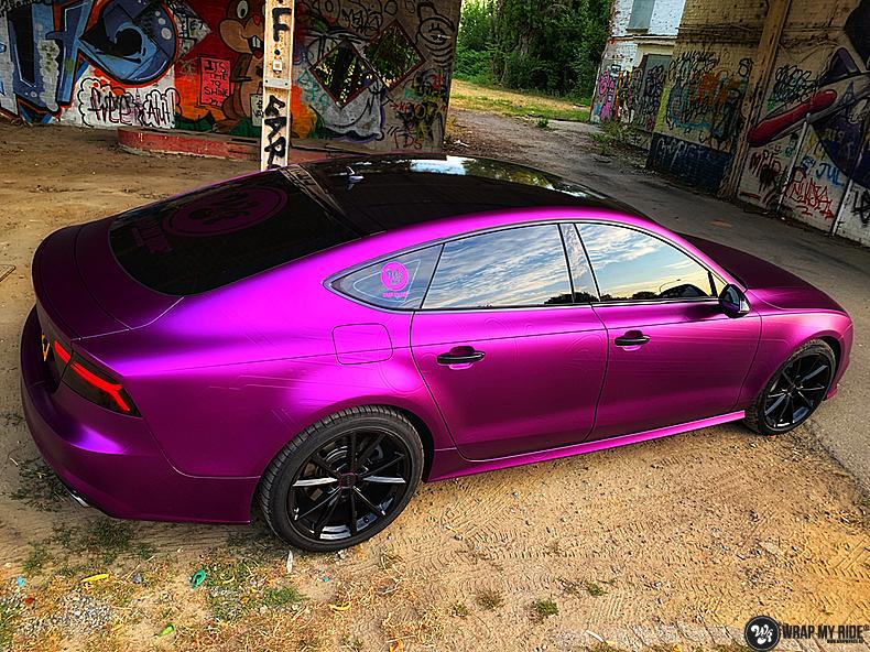 Audi A7 WMR purple grape, Carwrapping door Wrapmyride.nu Foto-nr:13657, ©2021