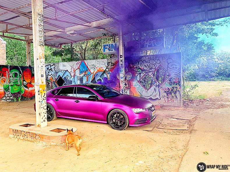 Audi A7 WMR purple grape, Carwrapping door Wrapmyride.nu Foto-nr:13656, ©2021
