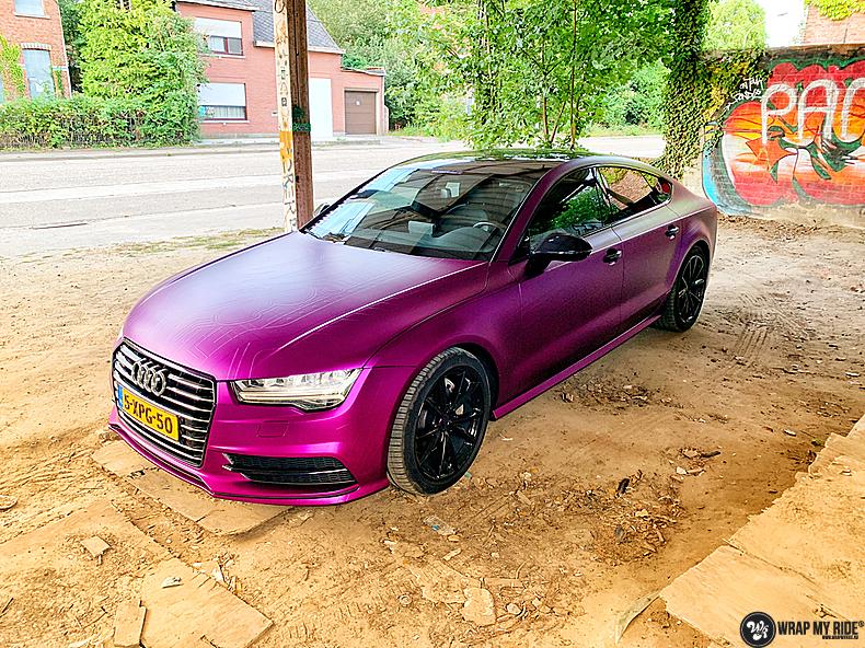 Audi A7 WMR purple grape, Carwrapping door Wrapmyride.nu Foto-nr:13655, ©2021