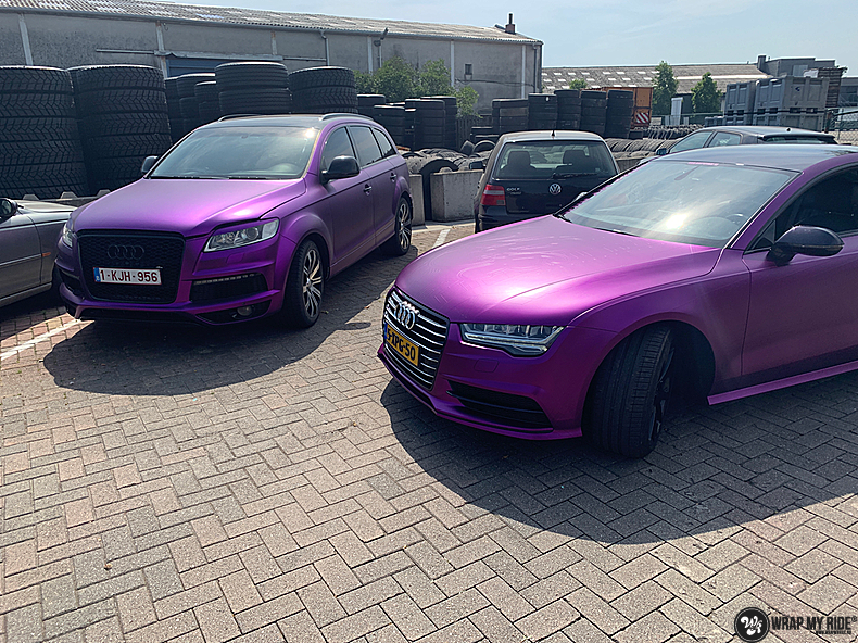 Audi A7 WMR purple grape, Carwrapping door Wrapmyride.nu Foto-nr:13653, ©2021