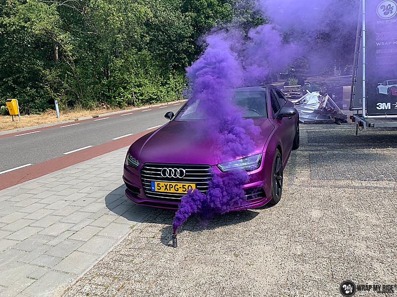 Audi A7 WMR purple grape, Carwrapping door Wrapmyride.nu Foto-nr:13651, ©2021