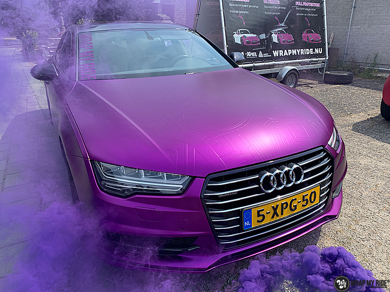 Audi A7 WMR purple grape, Carwrapping door Wrapmyride.nu Foto-nr:13650, ©2021