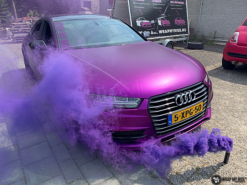 Audi A7 WMR purple grape, Carwrapping door Wrapmyride.nu Foto-nr:13649, ©2021