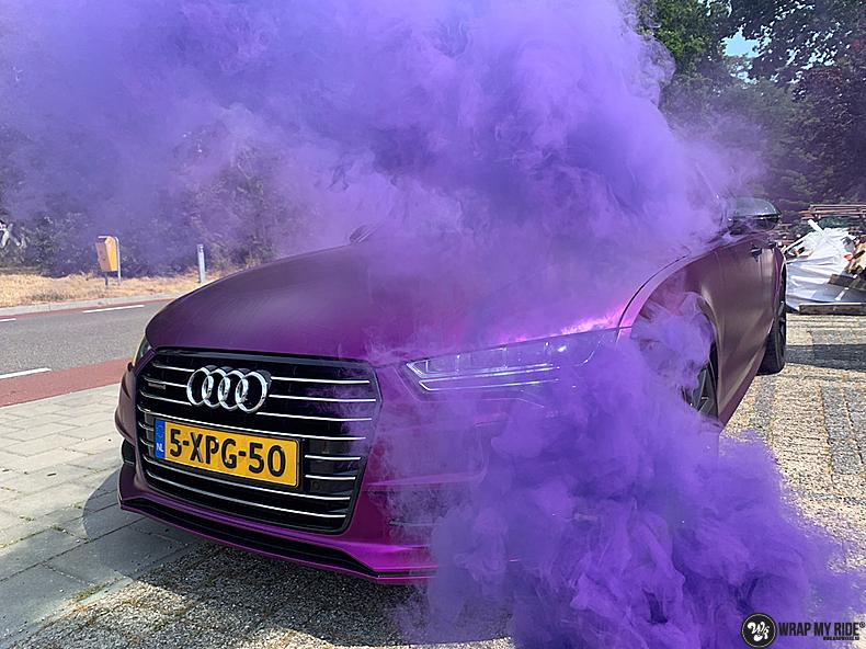 Audi A7 WMR purple grape, Carwrapping door Wrapmyride.nu Foto-nr:13648, ©2021