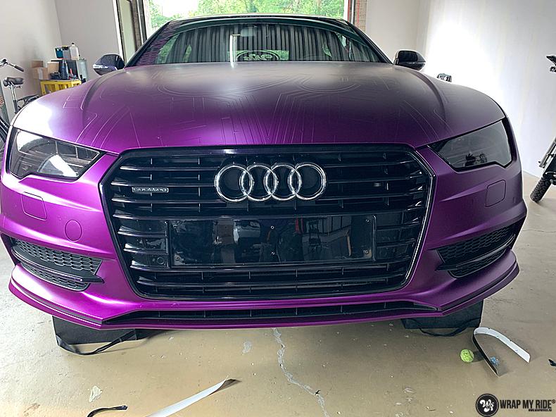 Audi A7 WMR purple grape, Carwrapping door Wrapmyride.nu Foto-nr:13632, ©2021