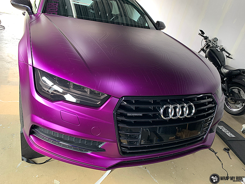 Audi A7 WMR purple grape, Carwrapping door Wrapmyride.nu Foto-nr:13631, ©2021