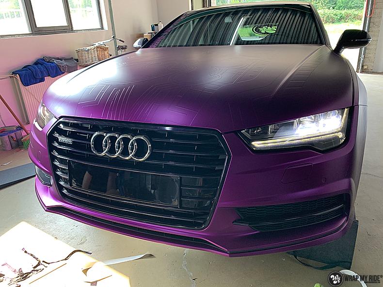 Audi A7 WMR purple grape, Carwrapping door Wrapmyride.nu Foto-nr:13630, ©2021