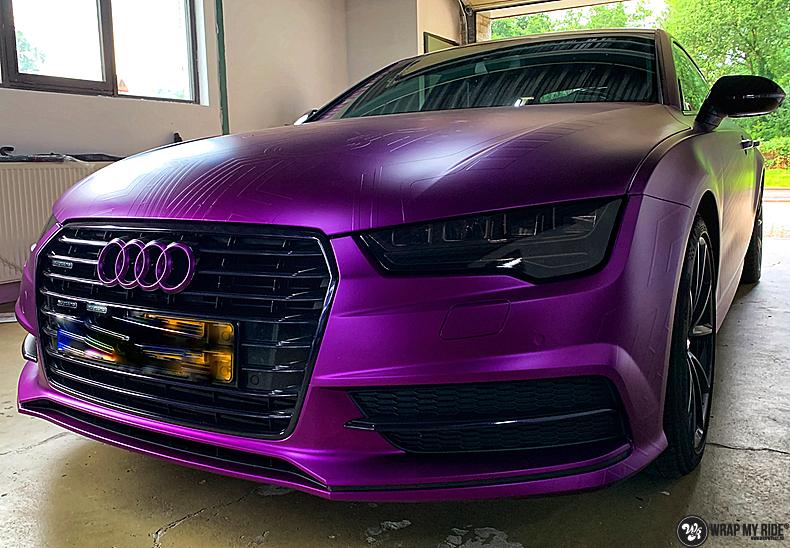 Audi A7 WMR purple grape, Carwrapping door Wrapmyride.nu Foto-nr:13629, ©2021
