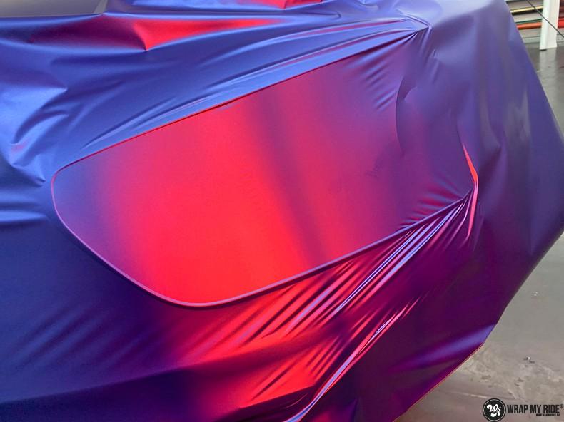 Mercedes A-klasse matte slate bleu, Carwrapping door Wrapmyride.nu Foto-nr:13321, ©2021