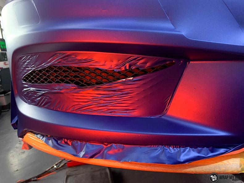 Mercedes A-klasse matte slate bleu, Carwrapping door Wrapmyride.nu Foto-nr:13320, ©2021