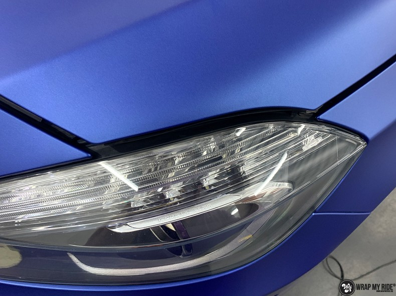 Mercedes A-klasse matte slate bleu, Carwrapping door Wrapmyride.nu Foto-nr:13318, ©2021
