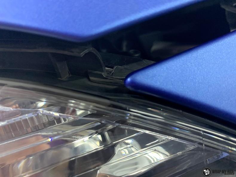 Mercedes A-klasse matte slate bleu, Carwrapping door Wrapmyride.nu Foto-nr:13317, ©2021