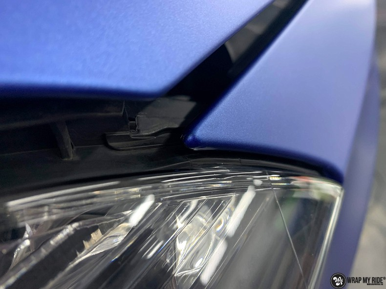 Mercedes A-klasse matte slate bleu, Carwrapping door Wrapmyride.nu Foto-nr:13316, ©2021