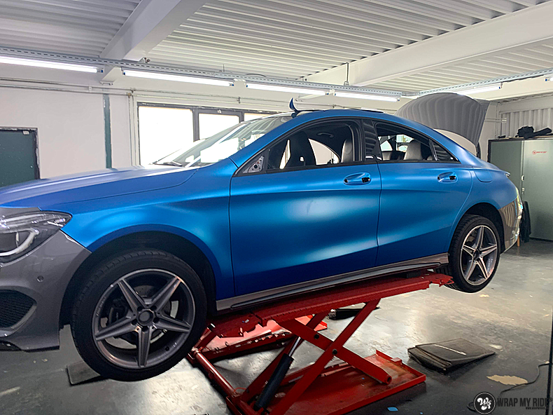 Mercedes CLA Matte Bleu Chrome, Carwrapping door Wrapmyride.nu Foto-nr:13792, ©2021