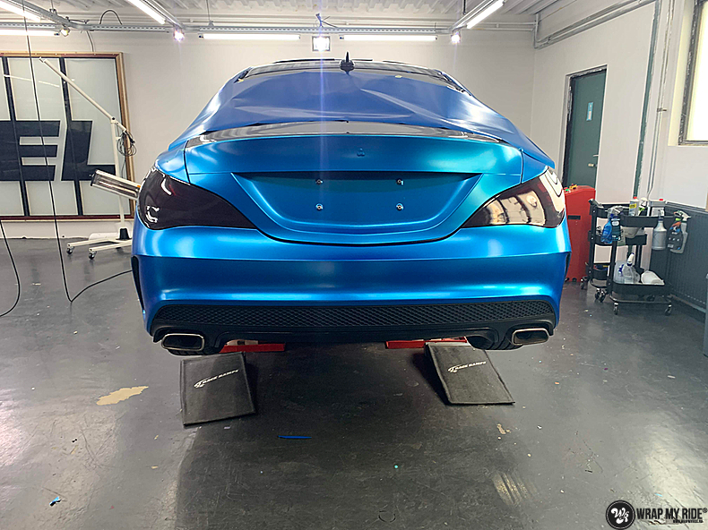 Mercedes CLA Matte Bleu Chrome, Carwrapping door Wrapmyride.nu Foto-nr:13795, ©2021