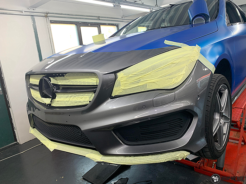 Mercedes CLA Matte Bleu Chrome, Carwrapping door Wrapmyride.nu Foto-nr:13798, ©2021