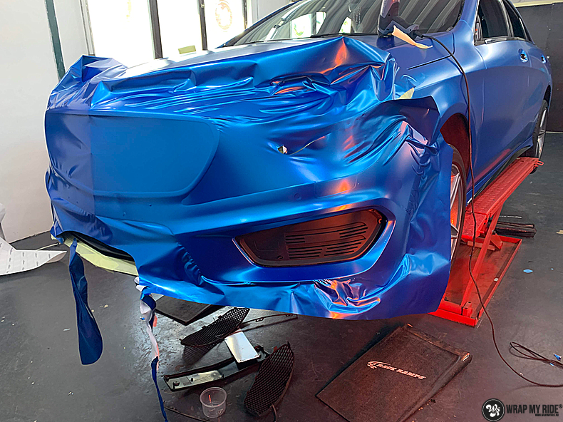 Mercedes CLA Matte Bleu Chrome, Carwrapping door Wrapmyride.nu Foto-nr:13799, ©2021